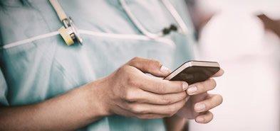 Doctor calling doctors health service